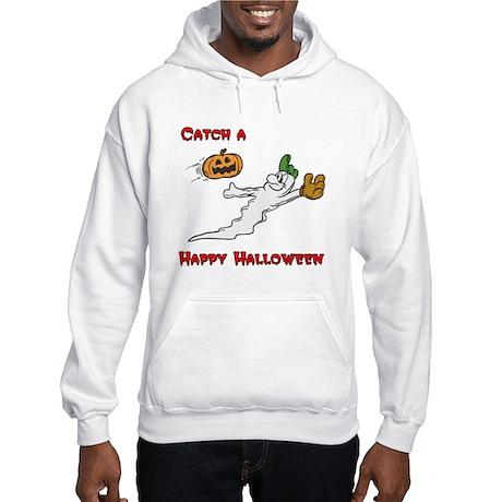 Ghost Baseball Catcher Hooded Sweatshirt