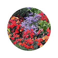 Flowers, Anchorage, Alaska, USA Button