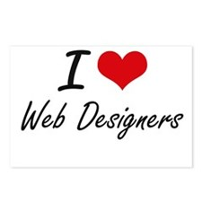 I love Web Designers Postcards (Package of 8)