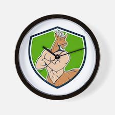 Pan Faun Satyr Crest Cartoon Wall Clock