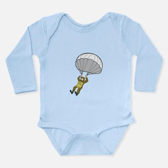 American Paratrooper Parachute Cartoon Body Suit