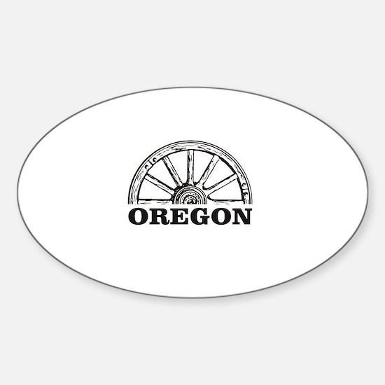 oregon wagon wheel Decal