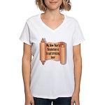 Beer Drinking Women's V-Neck T-Shirt