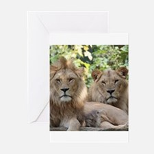 Lion20150801 Greeting Cards