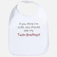 Cute Twin Brother - Bib