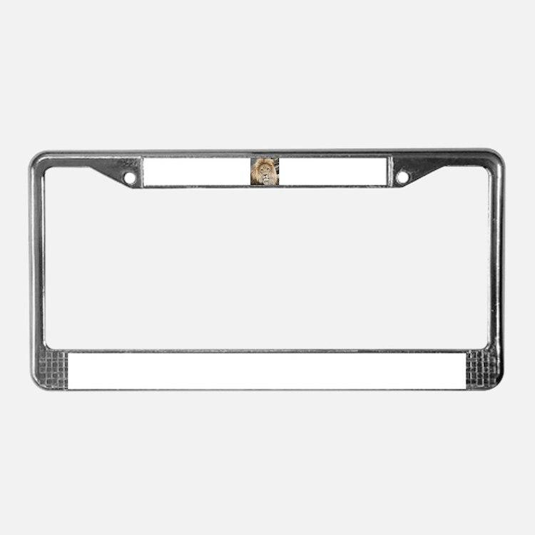 Lion20150802 License Plate Frame