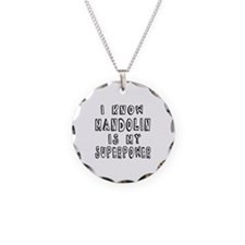 Mandolin is my superpower Necklace Circle Charm