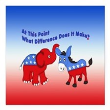 """What Difference Does It Make Square Car Magnet 3"""""""