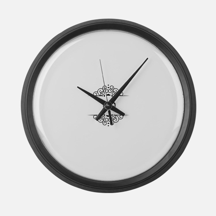 Nathan name in Hebrew letters Large Wall Clock