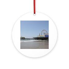 Santa Monica Pier Round Ornament