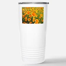 California Poppy's Stainless Steel Travel Mug