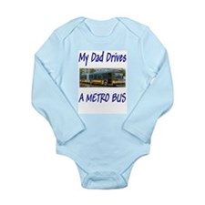 Funny Transportation Long Sleeve Infant Bodysuit