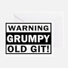warning grumpy old git Greeting Card