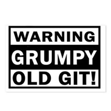 warning grumpy old git Postcards (Package of 8)