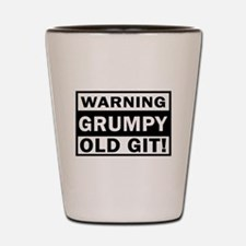 warning grumpy old git Shot Glass