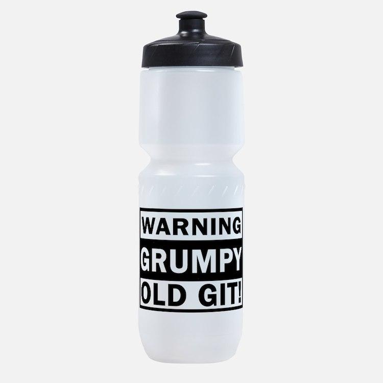 warning grumpy old git Sports Bottle