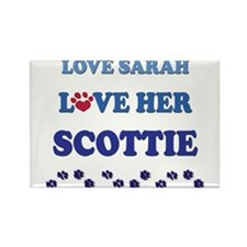 Love Sarah Love Her Scottie Rectangle Magnet