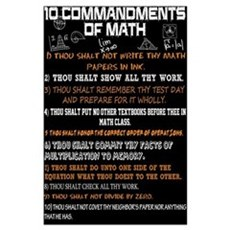Math 10 Commandments Poster