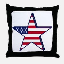 patriotic Star USA american Throw Pillow