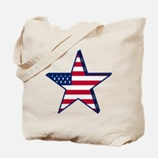 patriotic Star USA american Tote Bag