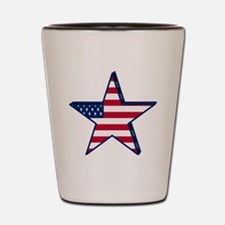 patriotic Star USA american Shot Glass
