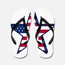 patriotic Star USA american Flip Flops