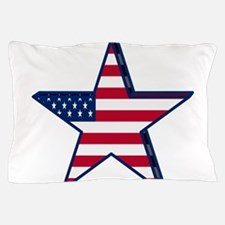 patriotic Star USA american Pillow Case