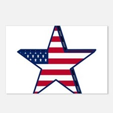 patriotic Star USA americ Postcards (Package of 8)