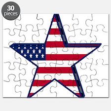 patriotic Star USA american Puzzle