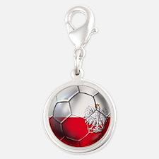 Poland Football Silver Round Charm