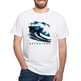 Surfing Mens White T-shirts