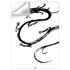 Dragon and Chinese Symbol Wall Decal
