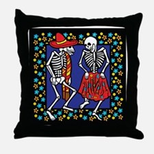 Day Of The Dead Dancers Throw Pillow