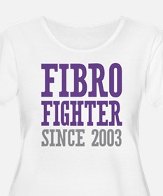 Fibro Fighter Since 2003 Plus Size T-Shirt