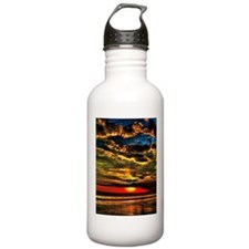 painted bali evening sky 1.png Water Bottle