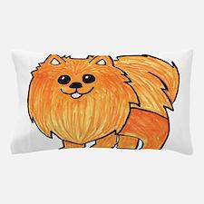 Orange Pomeranian Pillow Case