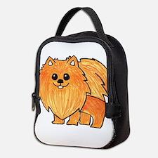 Orange Pomeranian Neoprene Lunch Bag