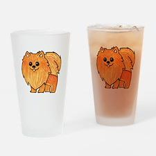 Orange Pomeranian Drinking Glass