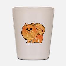 Orange Pomeranian Shot Glass