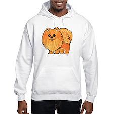 Orange Pomeranian Hoodie