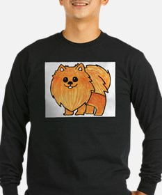 Orange Pomeranian Long Sleeve T-Shirt