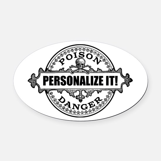 personalized poison Oval Car Magnet