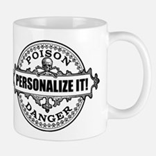 PERSONALIZED Poison Label Mugs