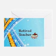 Retired Teacher - school books Greeting Card