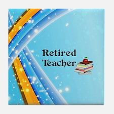 Retired Teacher - school books Tile Coaster