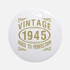 Vintage 1945 Birthday Round Ornament