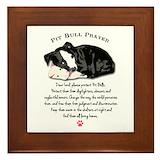 Pit bull Framed Tiles
