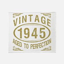 Vintage 1945 Birthday Throw Blanket
