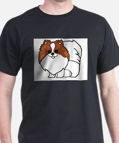 Chocolate Parti Pomeranian T-Shirt
