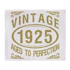 Vintage 1925 Birthday Throw Blanket